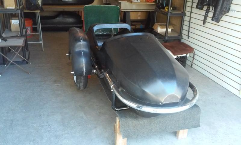 Watsonian GP Sidecar with new fender mud guard