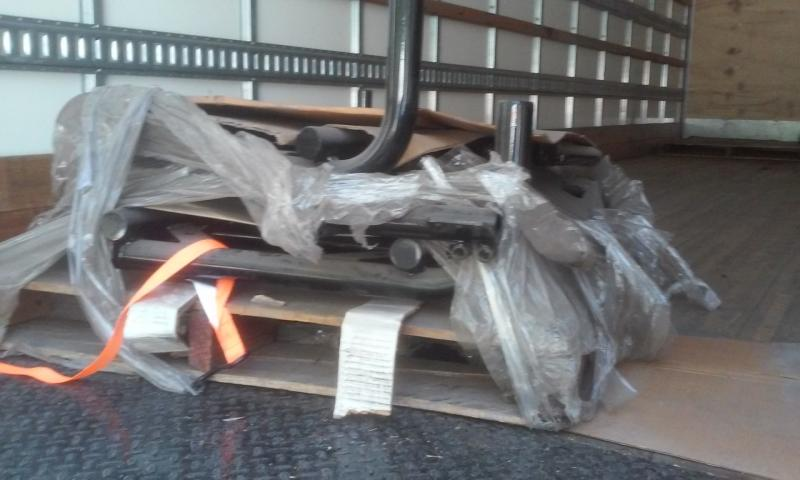 Pallet of new old stock California Sidecar frames