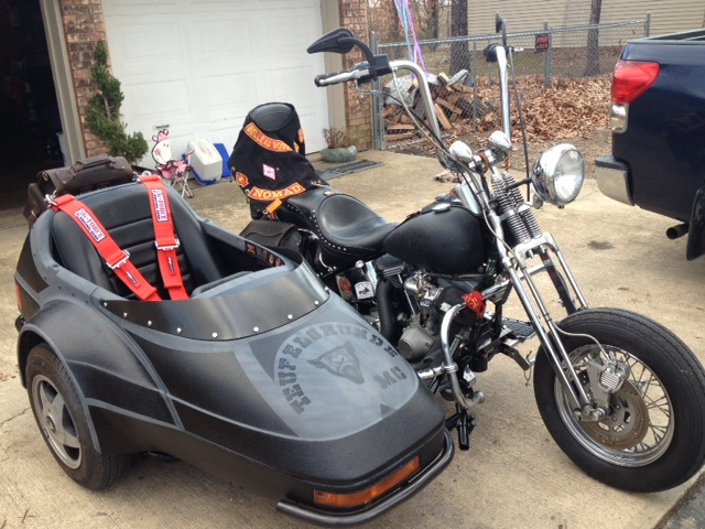 Harley Davidson 1997 Heritage Softail & Champion Escort Sidecar with cut down wi