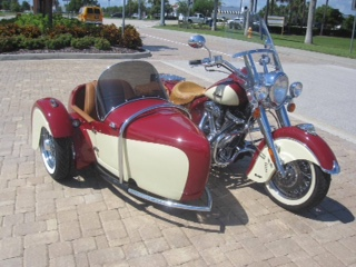 2012 Indian Chief & 2015 Hannigan Indian Heritage Sidecar Door