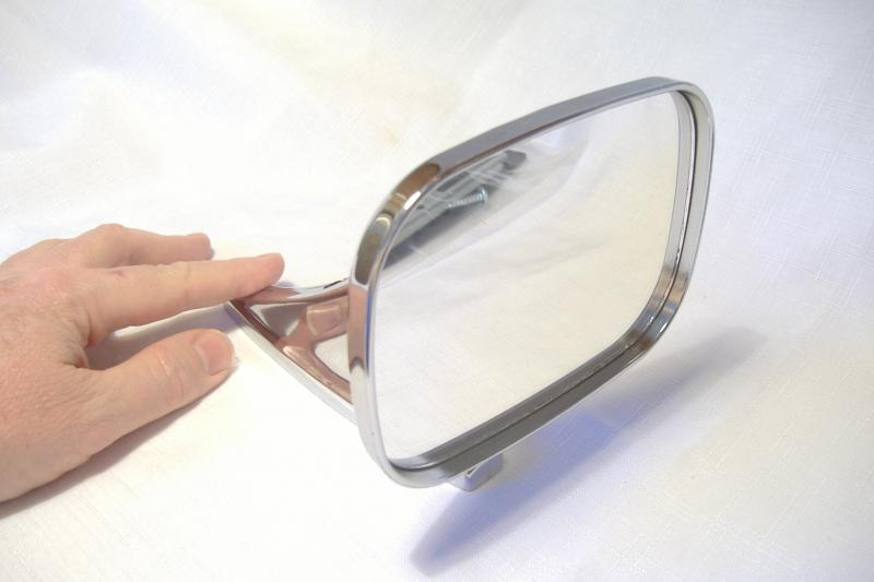 Motorcycle Sidecar Chrome Mirror Rectangle Front