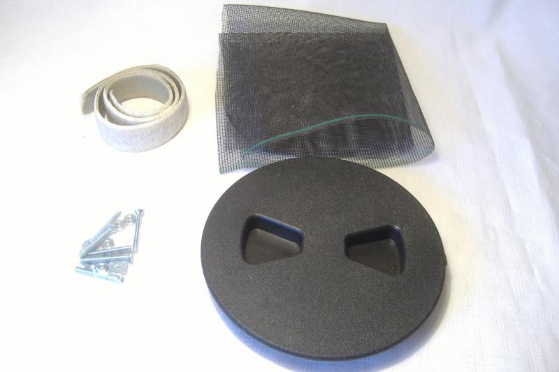 "Motorcycle Sidecar Air Vent Kit 4"" Floor Mount:"