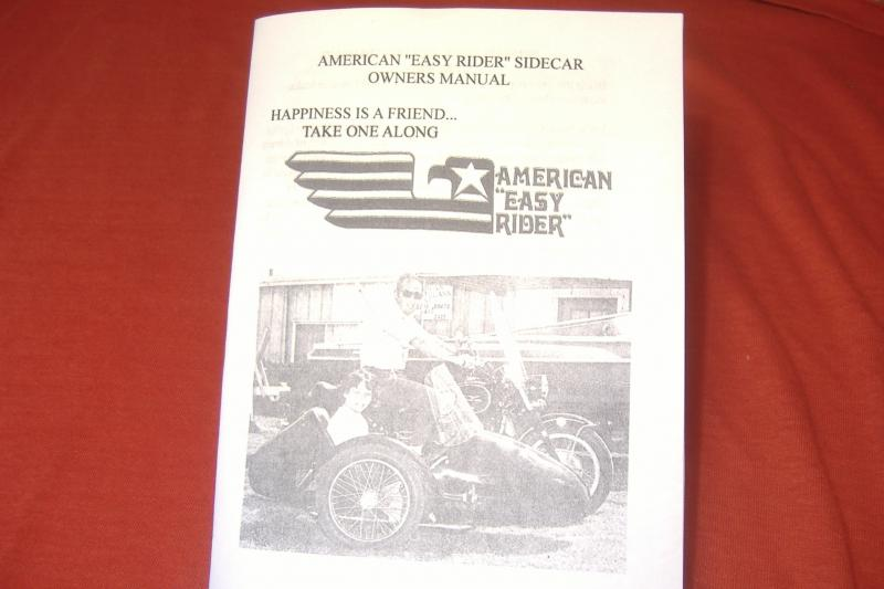 American Easy Rider Sidecar owners manual