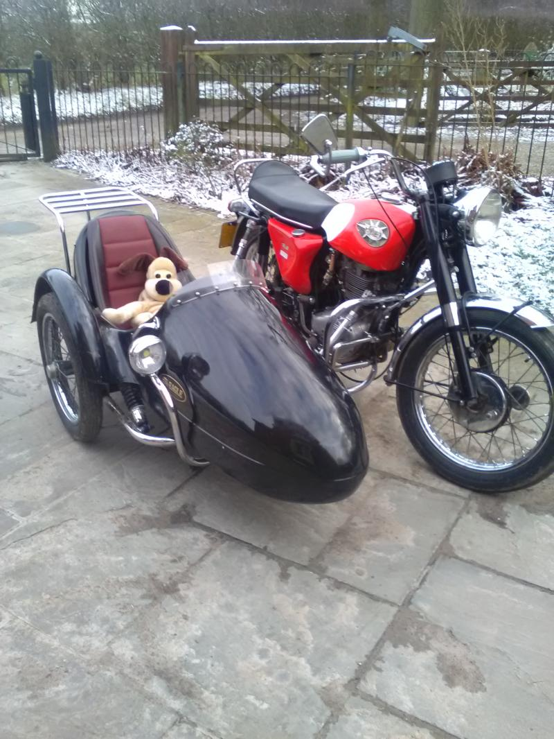 Barry lester BSA 441cc SOA Eagle sidecar in UK.