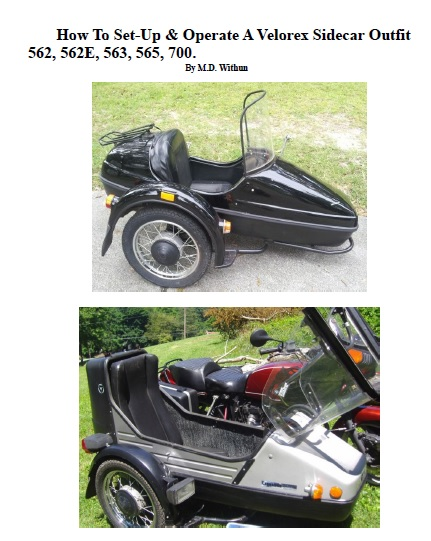 Velorex Sidecar Set Up Manual PDF On CD 562 562E 563 565 700 Cover