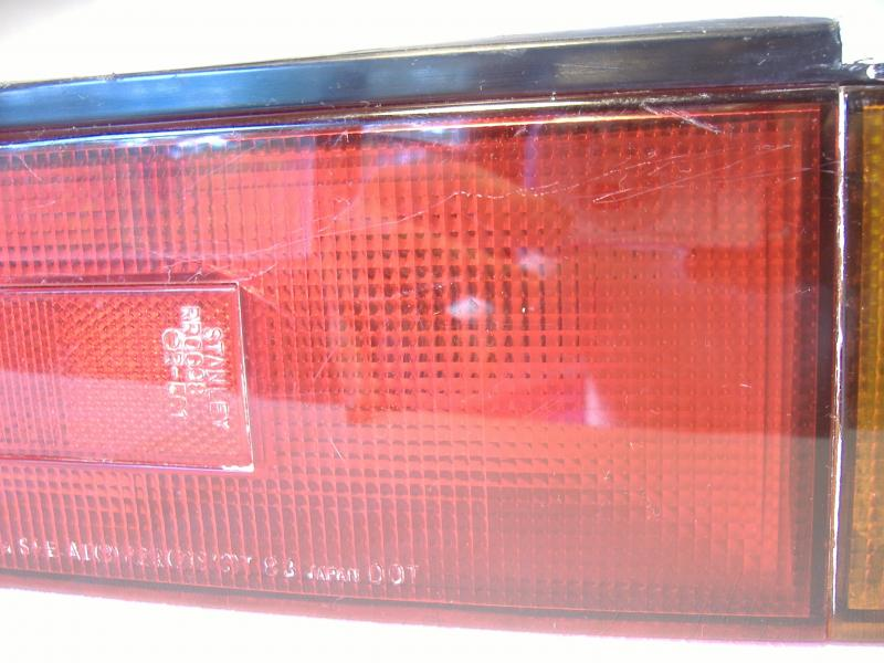 Used California Sidecar Friendship III Taillight & Escort scratchs on lens
