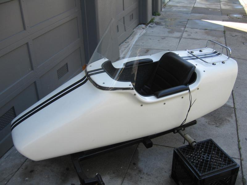 California Sidecar made Kenna sidecar white