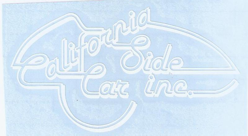 California Sidecar Decal