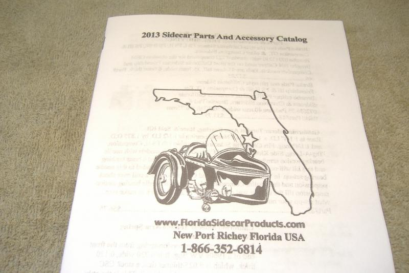 California Sidecar Parts catalog 2019 Motorcycle New Old Stock OEM