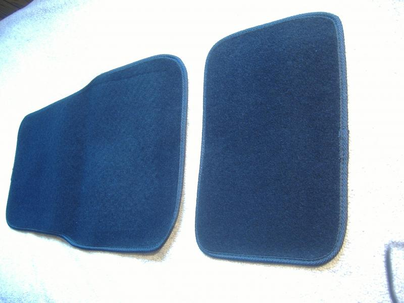 Motorcycle Sidecar Floor Mats Black Carpet
