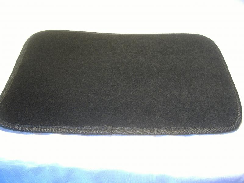 Motorcycle Sidecar Floor Mat Rear Trunk Black Carpet