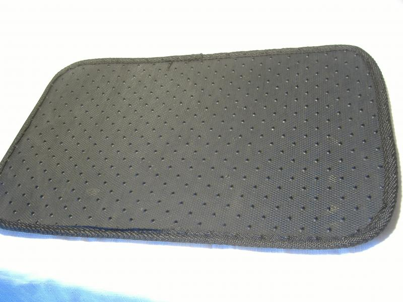 Motorcycle Sidecar Floor Mat Back Side with studes