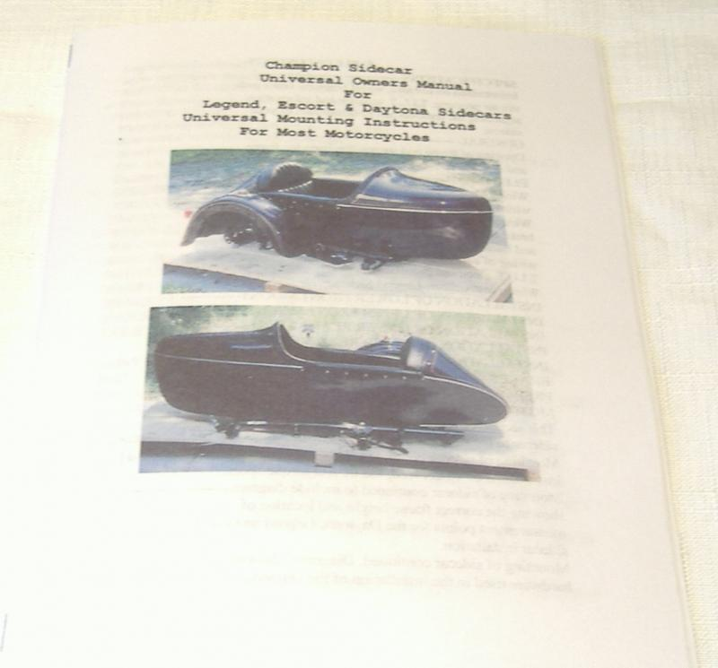 Champion Sidecar Owners Manual