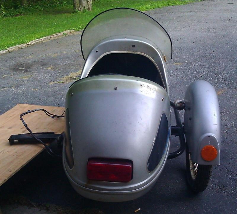 Cyclemotive sidecar taillight