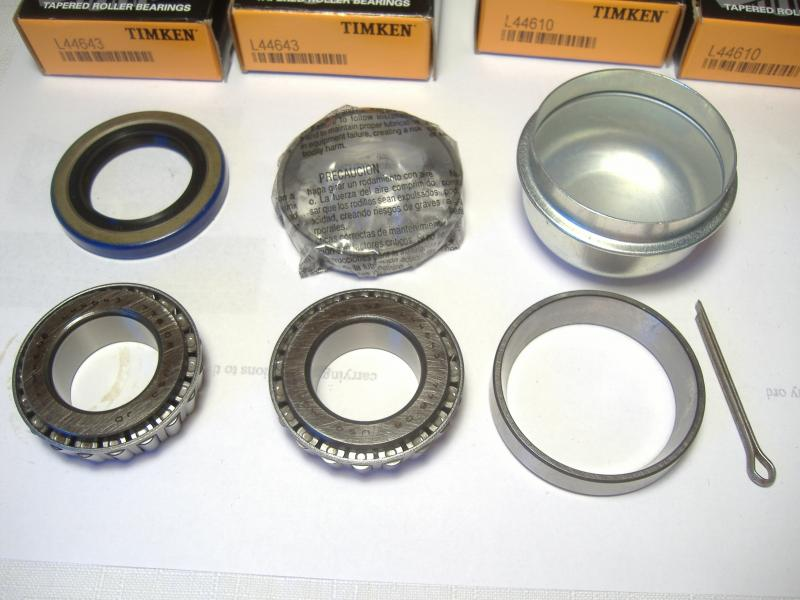 California Sidecar Timken wheel bearing race seal dust cap kit Eagle Champion