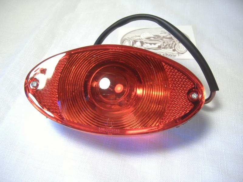 Taillight Flush Mount Inder Sidecar Beemer Motorcycle 5 inch Five