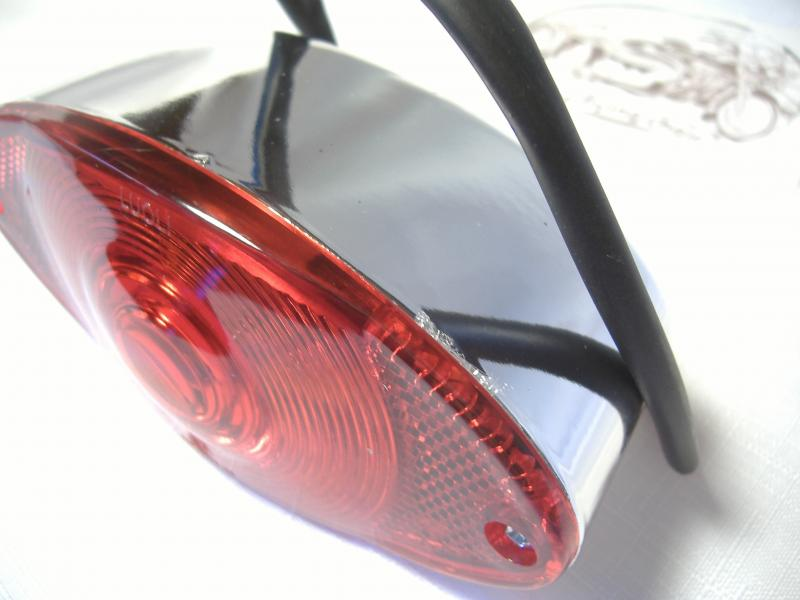 Taillight Flush Mount Inder Sidecar Rocket Motorcycle 5 inch Five