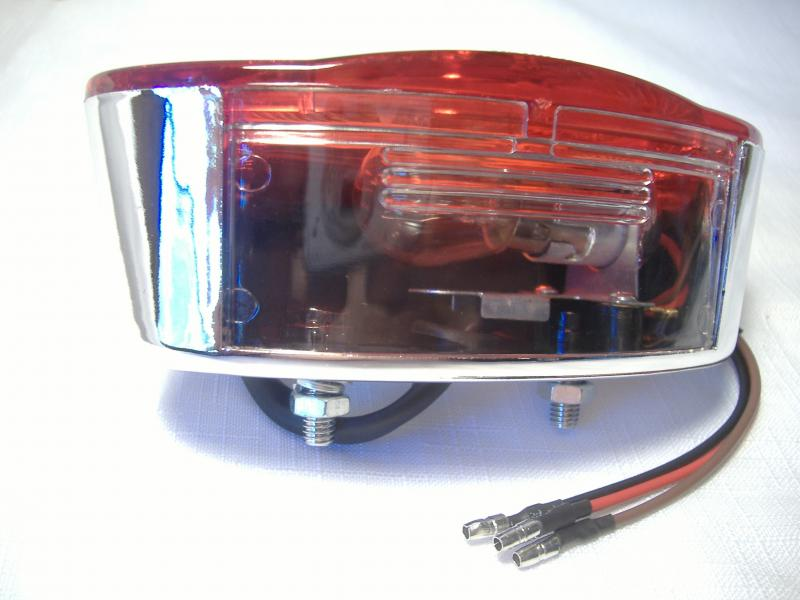 Taillight Flush Mount Inder Sidecar Royal Retro Clear Wind Motorcycle 5 inch