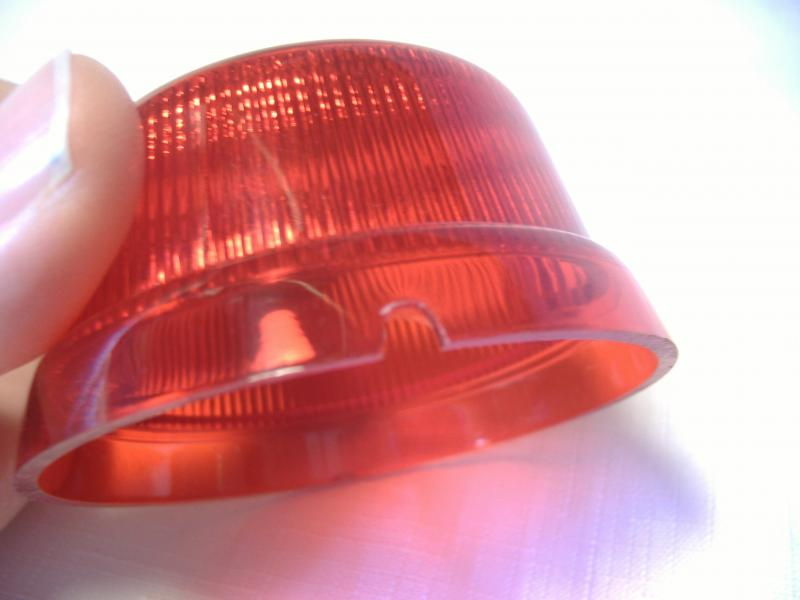 Cozy Inder Sidecar Red Taillight Lens Replacement Motorcycle water drain hole
