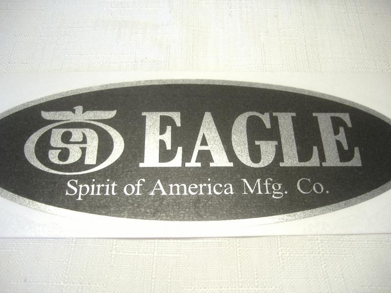 Spirit of America Mfg. Co Eagle Sidecar Decal New Reproduction