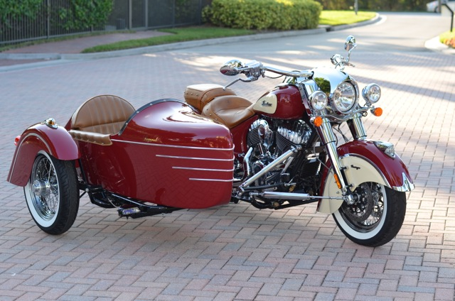 2014 Indian Chief  Motorcycle & 2014 Champion Legend Sidecar