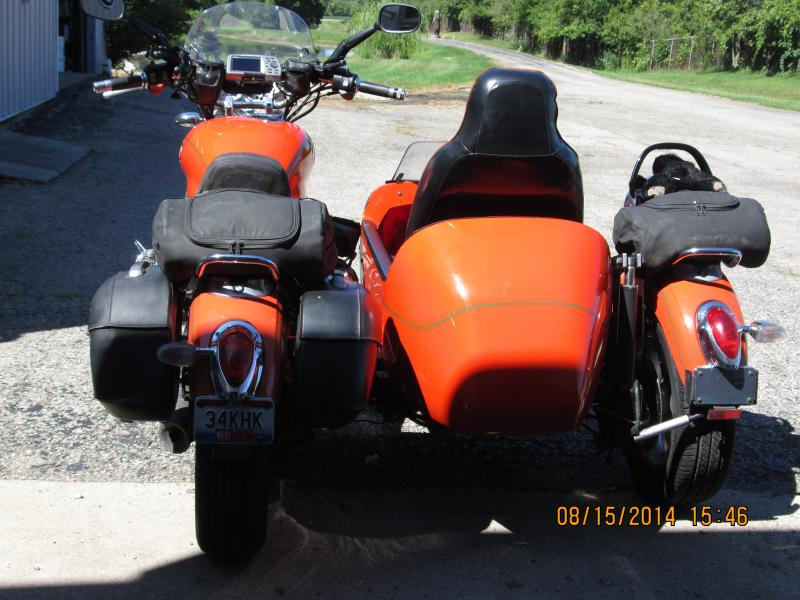 Dan Browning 1998 BMW R1200C and Home made Sidecar Ohio Dbear Sidecar Works rear