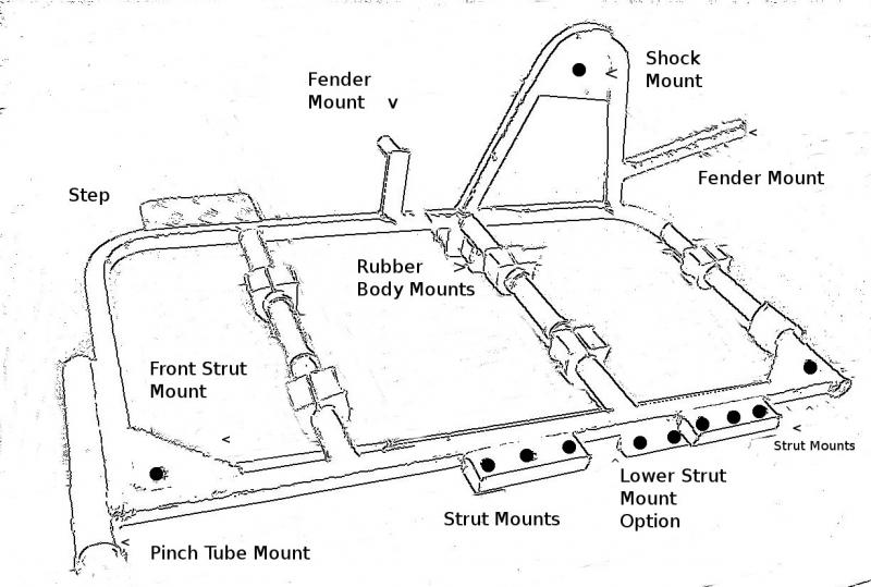 Inder Sidecar Frame Mount Diagram