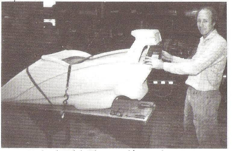 Flexit Sidecar inventer Hannes Myburgh at California Sidecar factory 1989