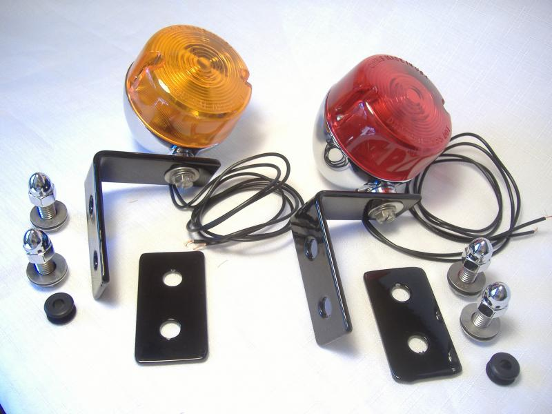 Aftermarket Inder Sidecar dual filament turn signal kit with brackets