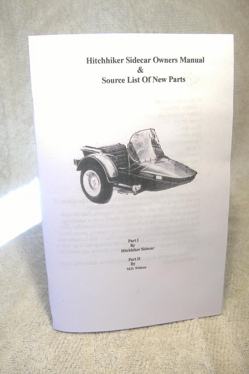 Hitchhiker Sidecar Owners Manual & Source List Of New Parts