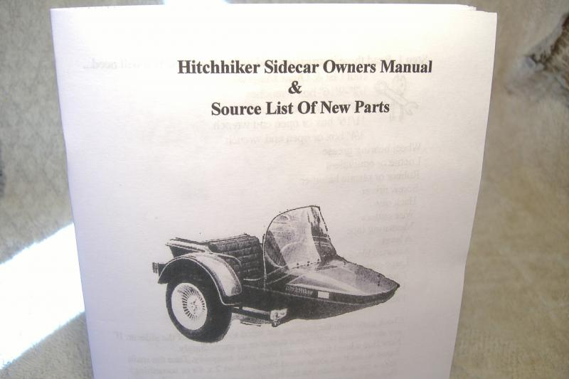 Hitchhiker Sidecar owners manual