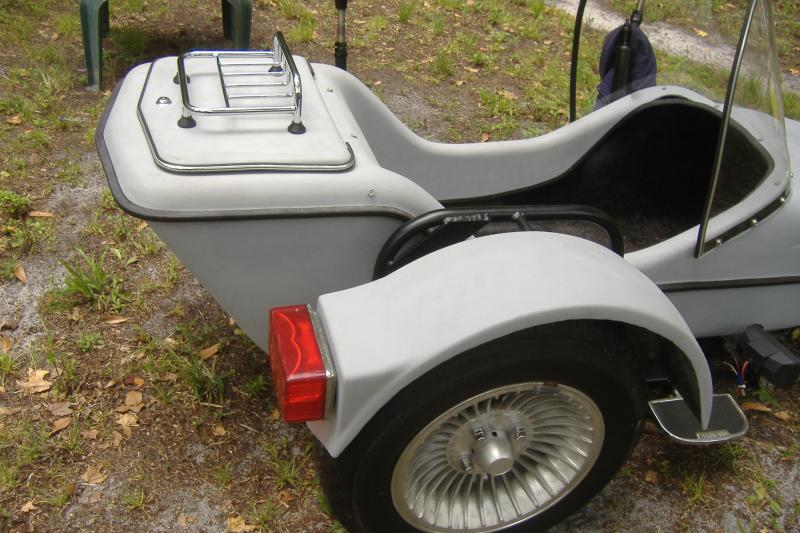 Motorcycle Sidecar luggage Rack on Hitchhiker