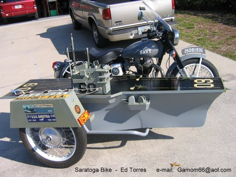 Enfield 500cc Motorcycle and aircraft carrier sidecar