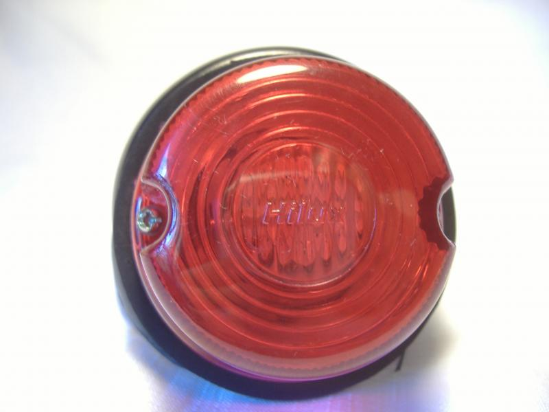 Universal Motorcycle Sidecar taillight red lens