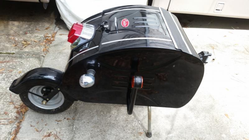Inder Sidecar one wheel scooter trailer motorcycle black