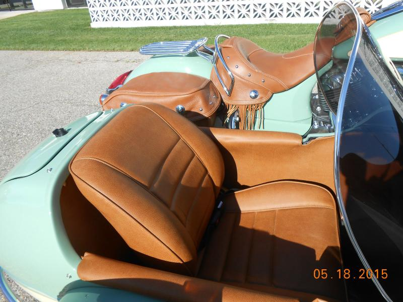 Indian Motorcycle & Hannigan Vintage Sidecar Seat