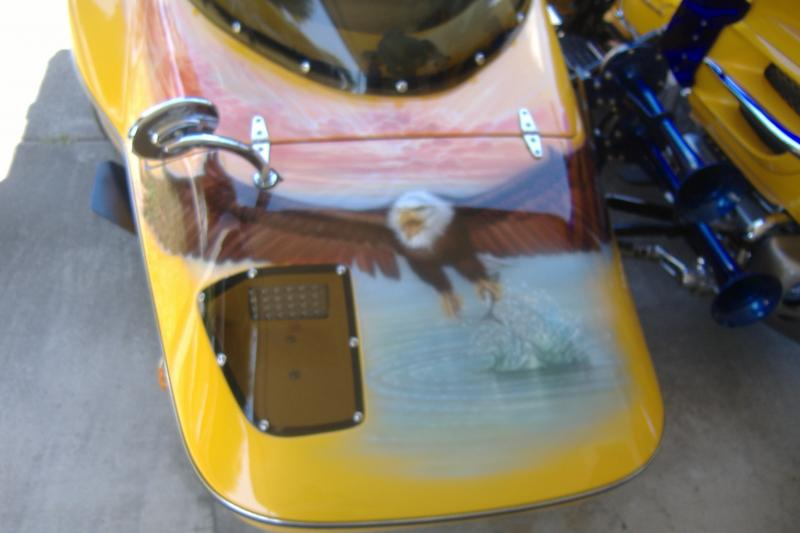 Honda Goldwing & Hannigan sidecar mural
