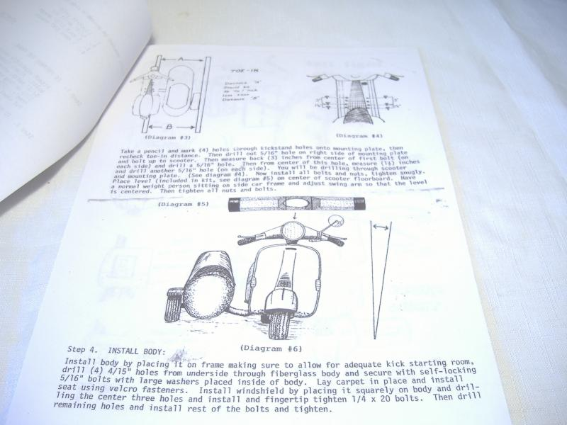California Partner scooter sidecar manual on Vespa lean out