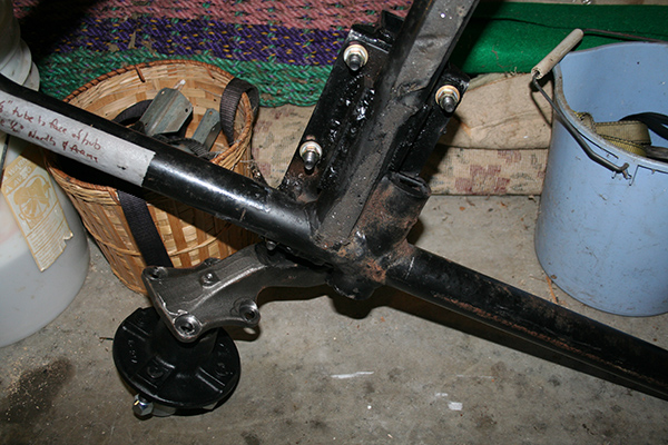 New California Sidecar rubber torsion arm suspension welded on to frame