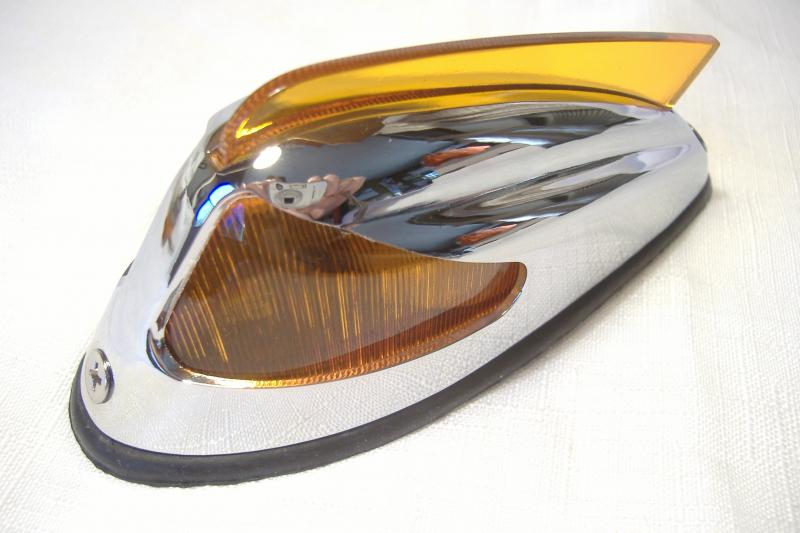 "sidecar 5"" amber fender marker light chrome"