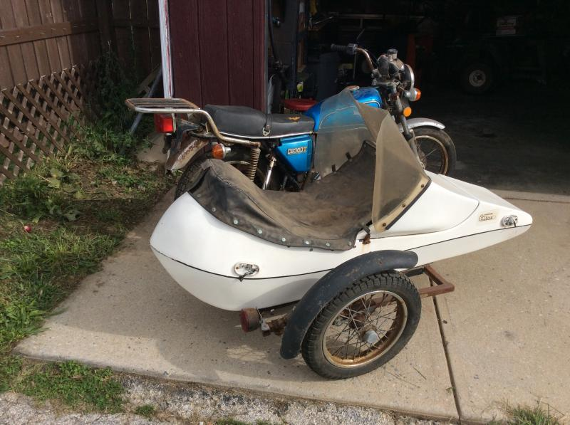 1980 Thompson Sidecar on 1976 Honda CB 360T crashed