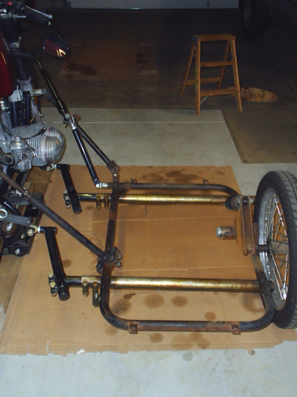 Spirit Of America Eagle Sidecar Updated Slip Tube Mounts