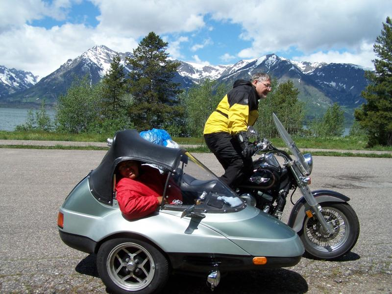 California Sidecar Friendship II SE at Yellowstone an Tetons Terry