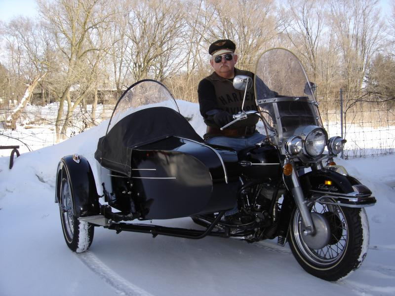 1969 Harley Davidson with 1965 Harley Sidecar & Tom