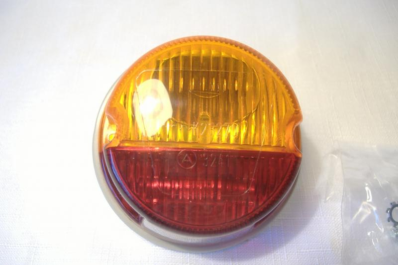 Motorcycle Sidecar Taillight Amber Red