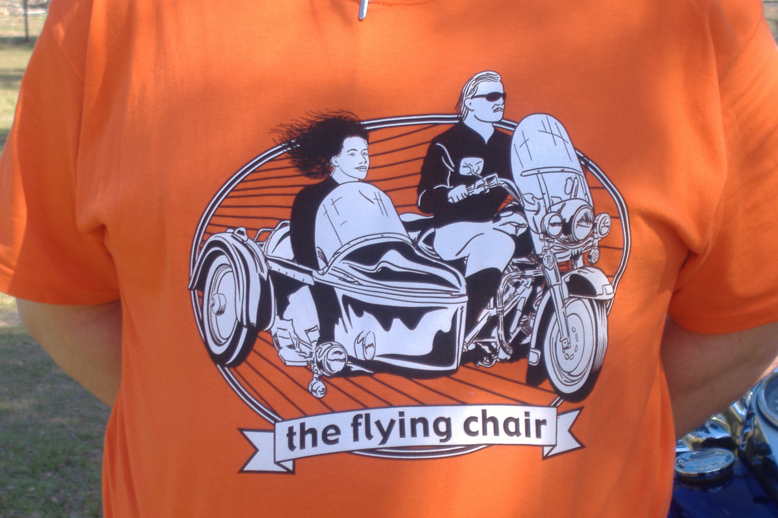 "Motorcycle Sidecar t-shirt ""the flying chair"""