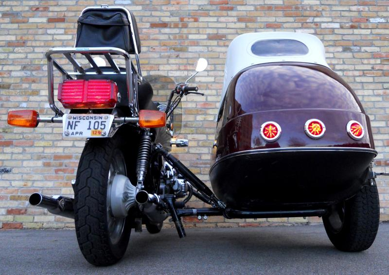 LED Taillight Upgrade Kit on California Sidecar Friendship FS II