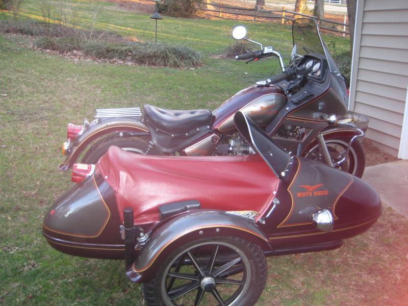 Moto Guzzi and California Companion Sidecar