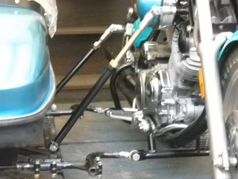 Hitchhiker sidecar mounts upper struts and lower