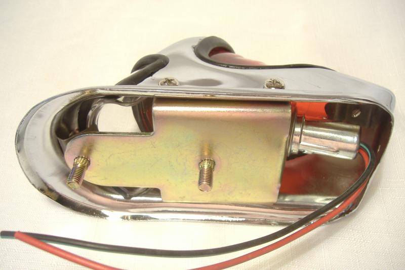 Harley Davidson style Beehive Sidecar taillight 1939-1946 back side